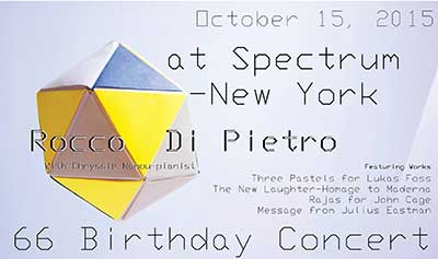 Rocco Di Pietro at Spectrum New York flyer